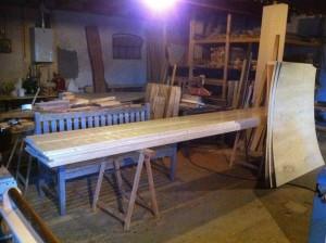 stapel planken